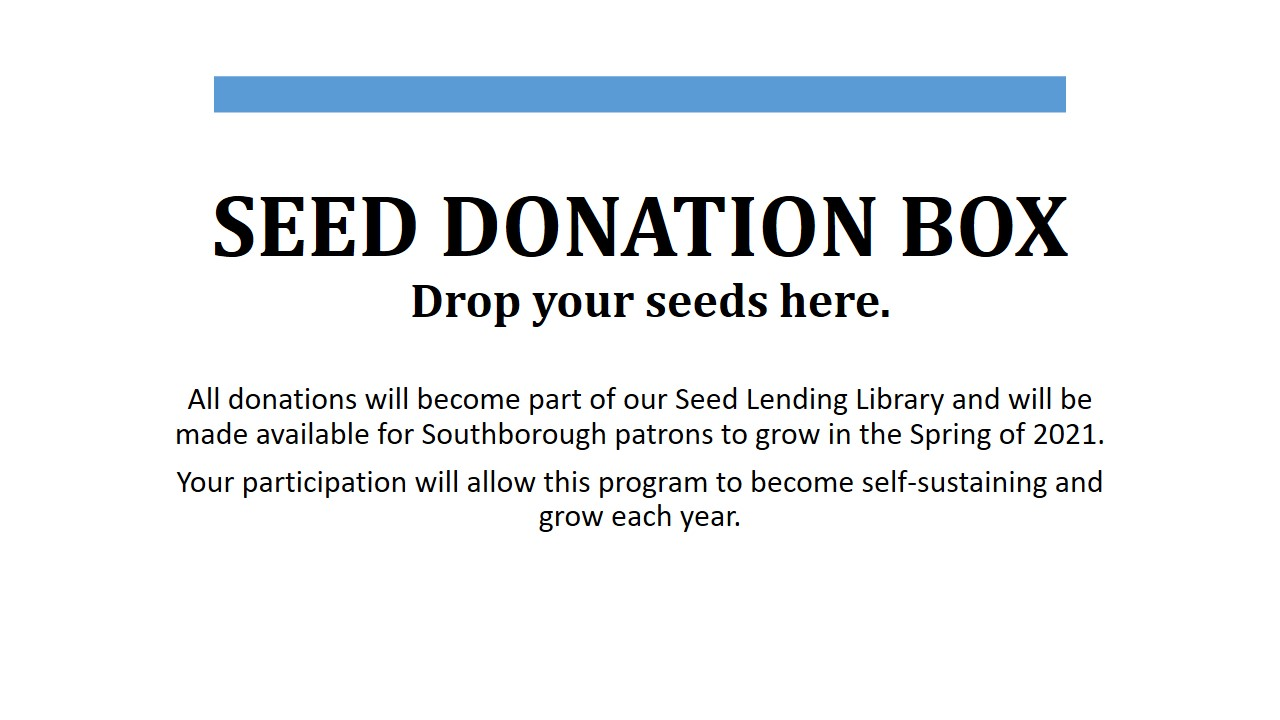 Seed donation box information