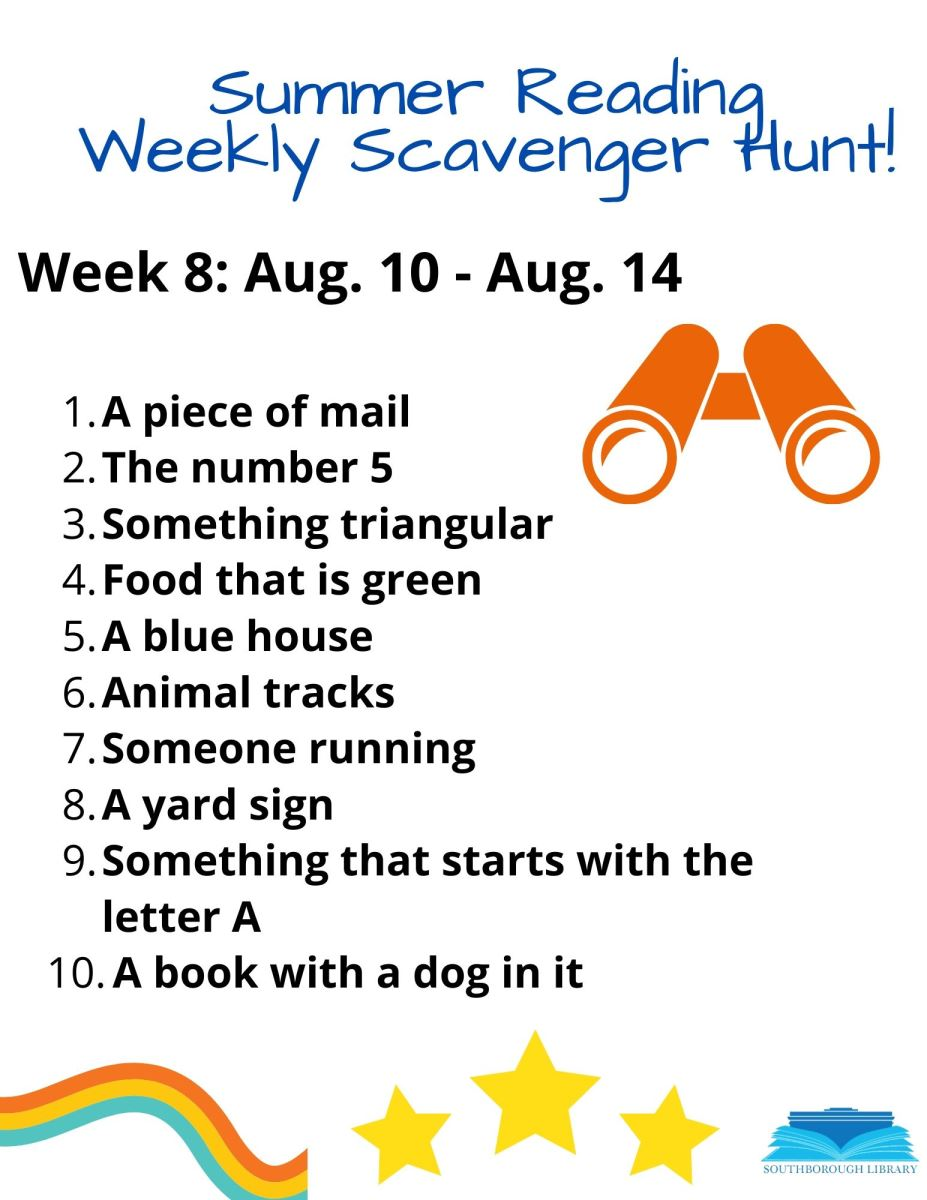 Week 8 Scavenger Hunt